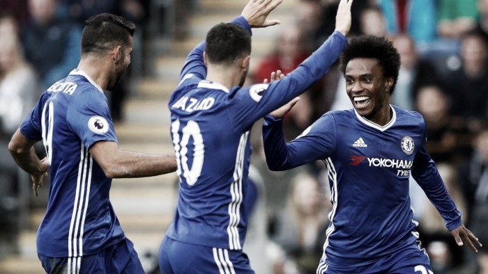 Premier League, il Chelsea di Conte torna al successo: con l'Hull City decidono Willian e Diego Costa