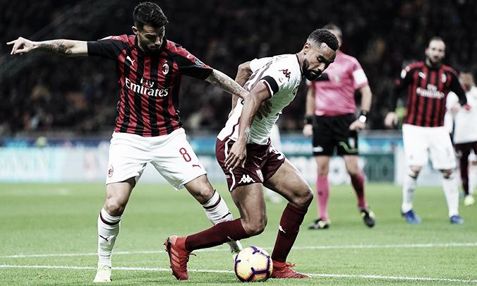 Sob olhares de Lucas Paquetá, Milan não sai do zero com Torino no San Siro