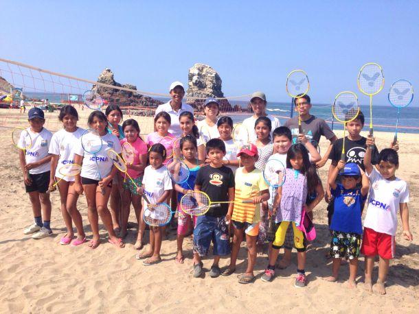 Leyla Chihuán promueve I festival de deportes de playa