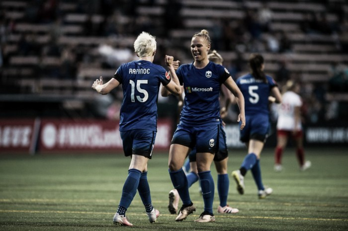 Seattle Reign FC comes from behind to defeat the Chicago Red Stars 2-1