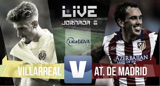 Resultado Villarreal - Atlético de Madrid en la Liga BBVA 2015 (1-0)
