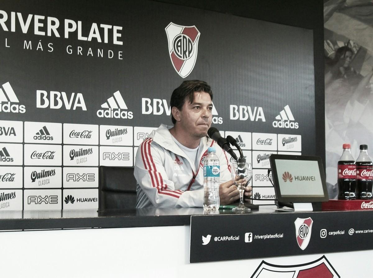 """Gallardo: """"Me sorprende que convoquen a los jugadores, siendo que ellos están concentrados para el domingo"""""""