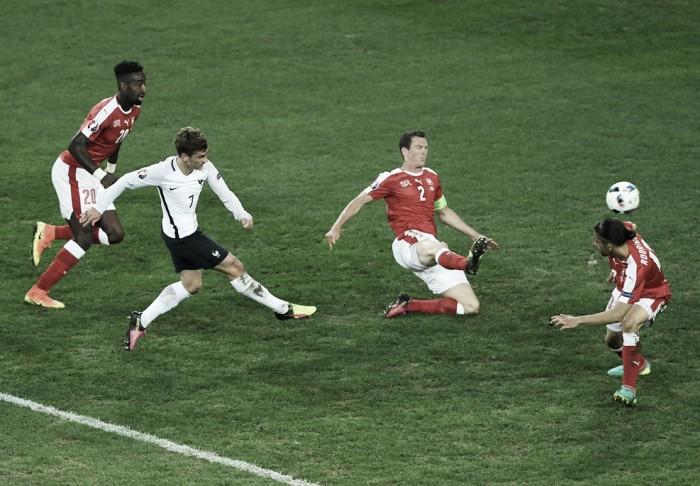 França e Suíça não saem do empate sem gols na Eurocopa
