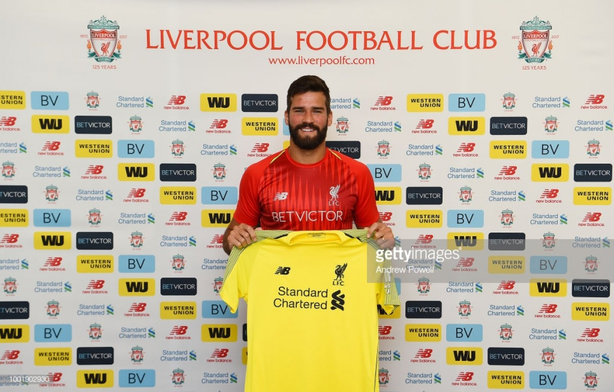 Liverpool sign goalkeeper Alisson from Roma for world record fee