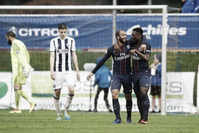 David Luiz faz gol contra, mas Lucas marca e PSG vira sobre o West Bromwich