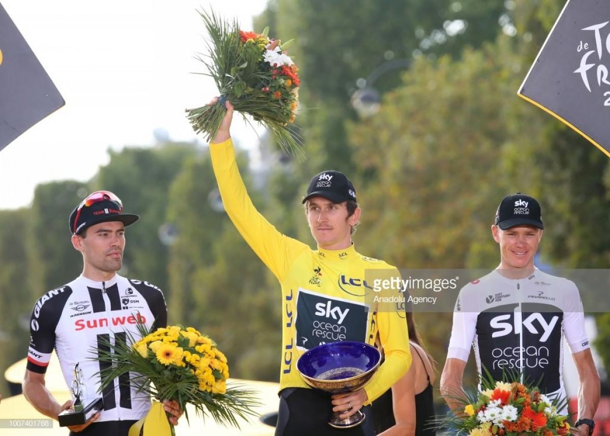 Geraint Thomas venceu a Volta a França