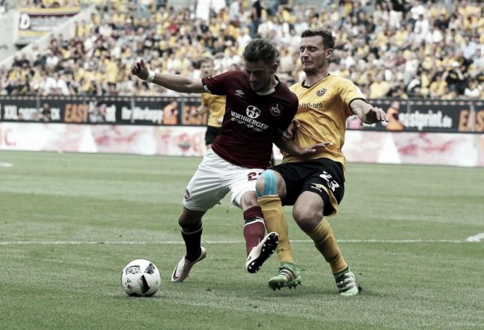 Em seu retorno a 2. Bundesliga, Dynamo Dresden arranca empate contra Nuremberg