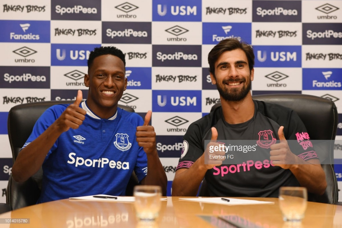 Everton complete deadline day swoop for Barcelona duo Yerry Mina and André Gomes