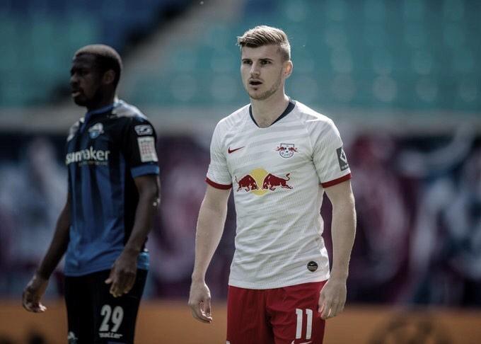 RB Leipzig leva gol no fim e apenas empata com lanterna Paderborn