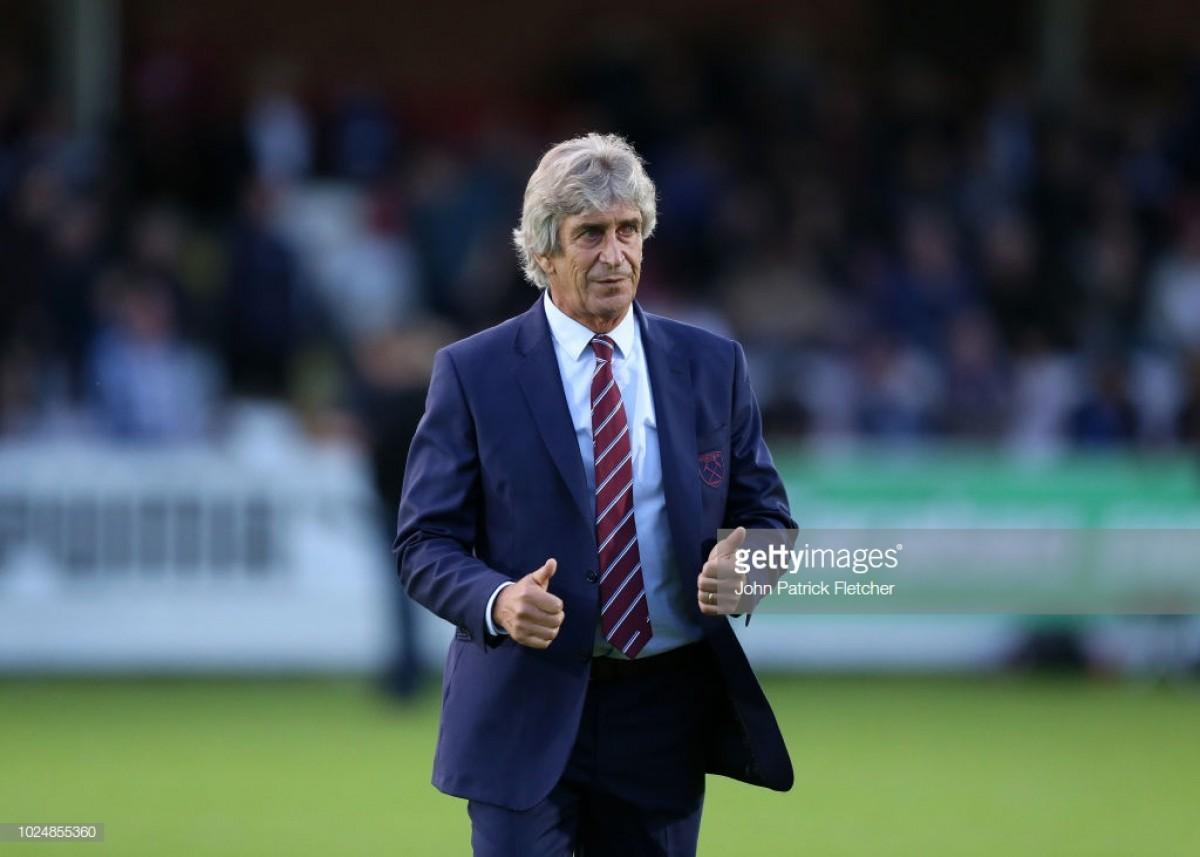 Pellegrini praises dedication and calmness of West Ham United