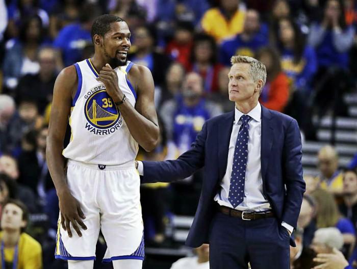 """NBA- Steve Kerr ringrazia Durant """"Il suo è stato un gesto rimarchevole"""""""