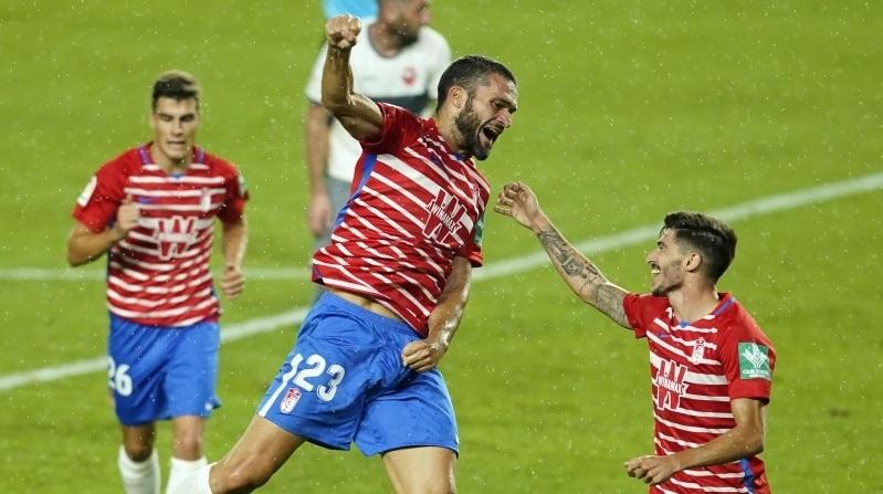 El Granada CF, ilusionado para la 'final' de acceso a la Europa League en Malmö