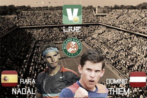 Roland Garros 2014: Rafael Nadal - Dominic Thiem  en directo
