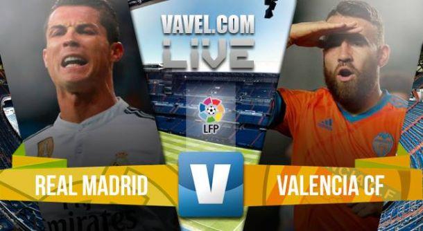 Resultado Real Madrid - Valencia en liga BBVA 2015 (2-2)