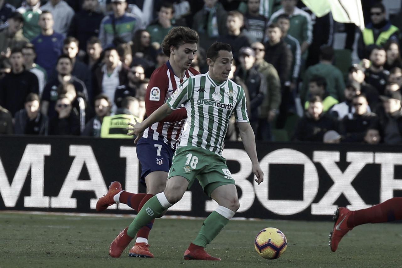Canales marca de pênalti e Betis derrota Atlético de Madrid no Benito Villamarín