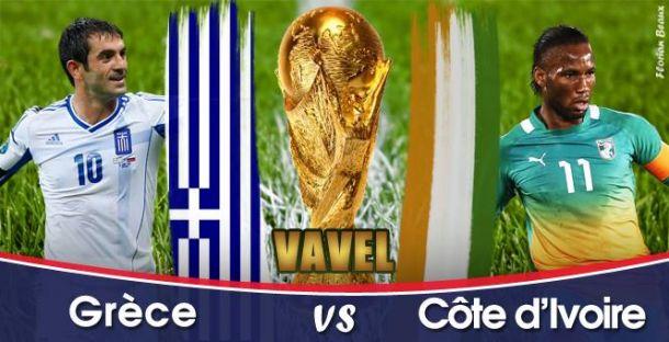 Live Grèce - Côte d'Ivoire, la Coupe du Monde 2014 en direct
