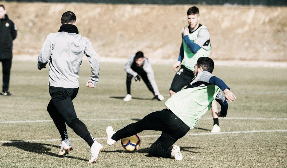 Tres sesiones antes del partido frente al Huesca
