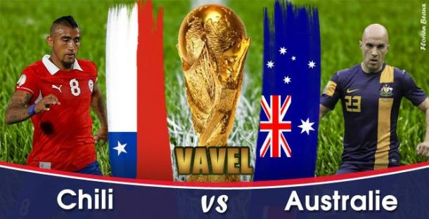 Live Coupe du Monde 2014 : Chili - Australie en direct