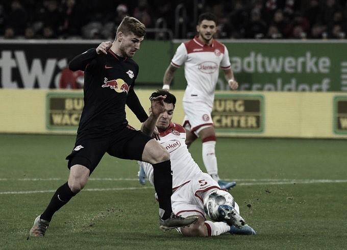 Com chance de garantir vaga à Champions League, RB Leipzig encara ameaçado Düsseldorf