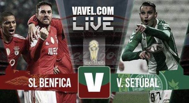 Benfica x Vitória Setúbal    na Taça da Liga (3-0)