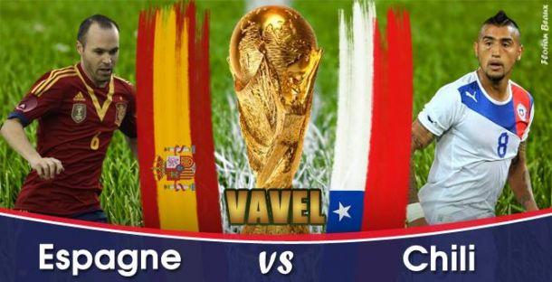 Live Espagne - Chili, la Coupe du Monde 2014 en direct