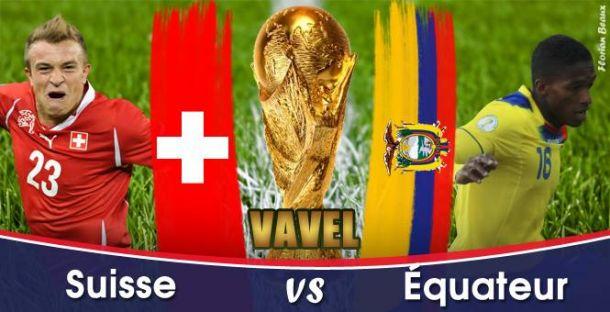 Live Coupe du Monde 2014 : Suisse - Équateur en direct