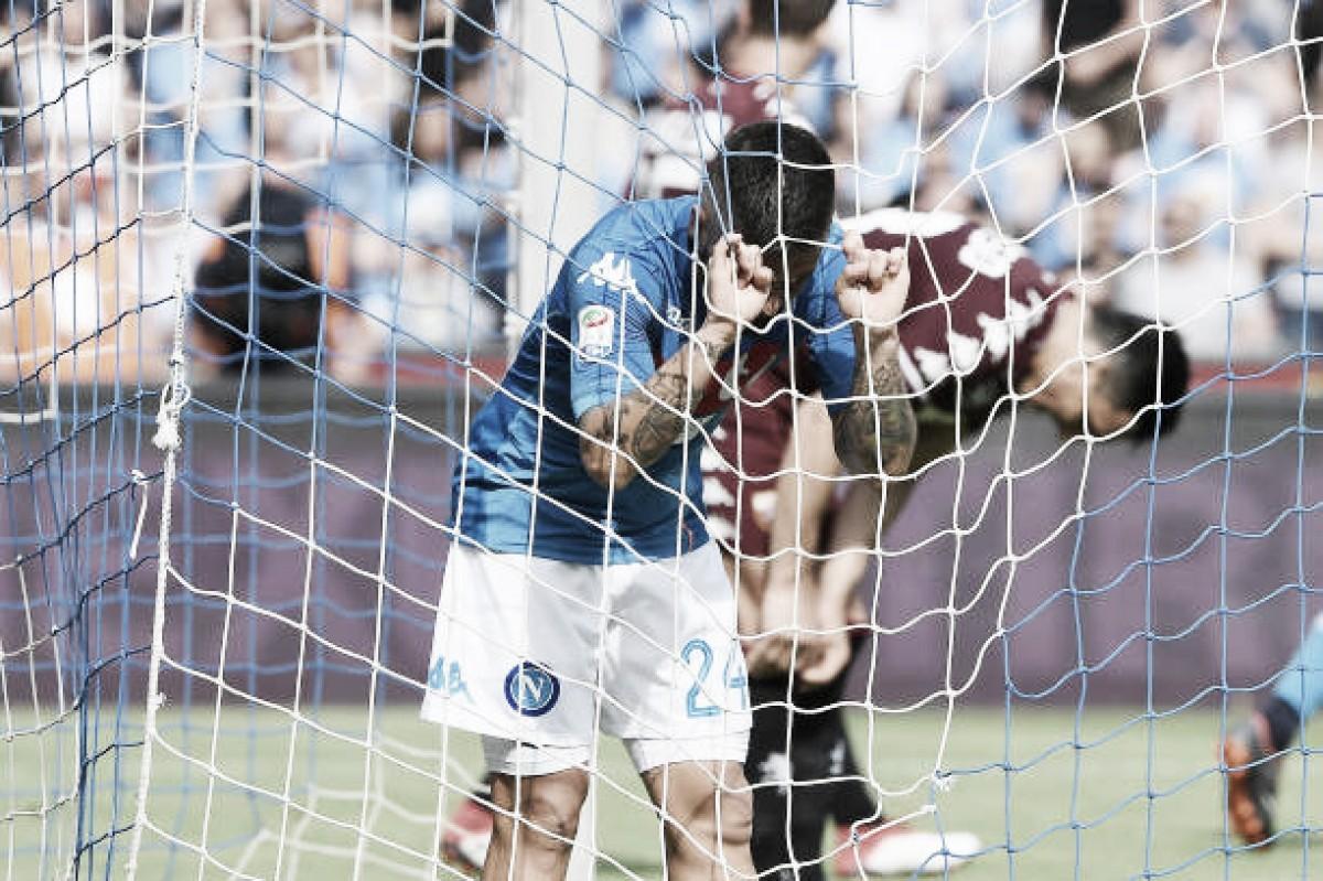 Napoli tropeça em casa diante do Torino e praticamente dá adeus às chances de scudetto