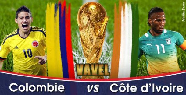 Live Colombie - Côte d'Ivoire, la Coupe du Monde 2014 en direct