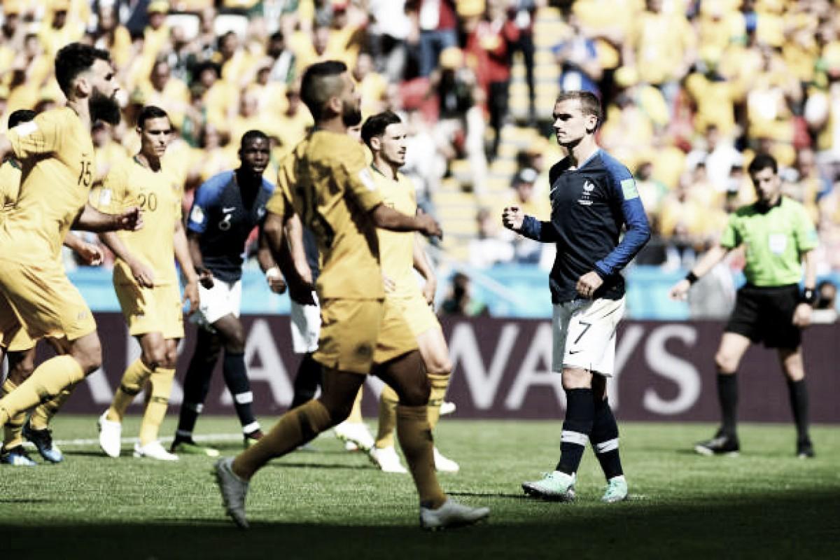 Com primeira participação decisiva do VAR na Copa, França derrota Austrália