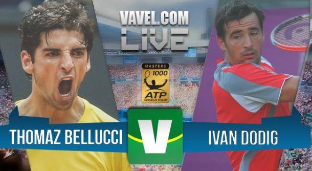 Resultado Thomaz Bellucci x Ivan Dodig, pelo qualy do Masters 1000 de Roma (2-0)
