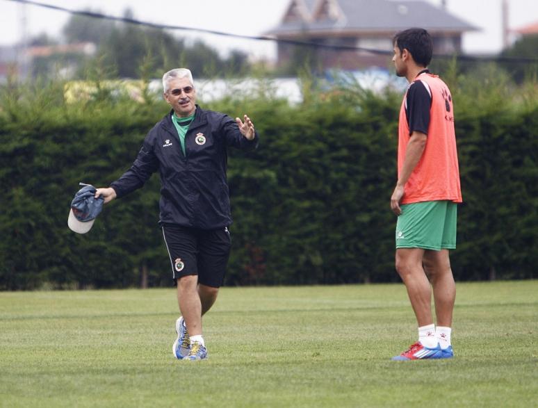 Fabri dirige su primer entrenamiento