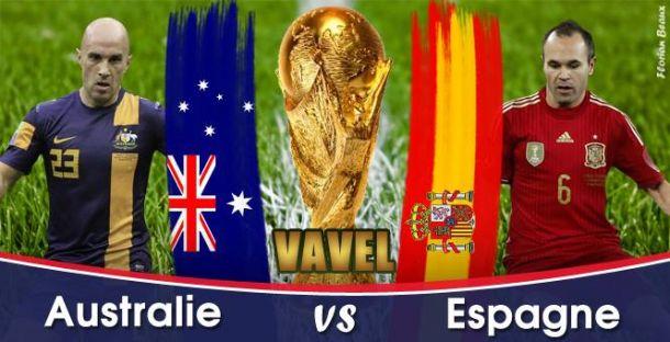 Live Coupe du Monde 2014 : Australie - Espagne en direct