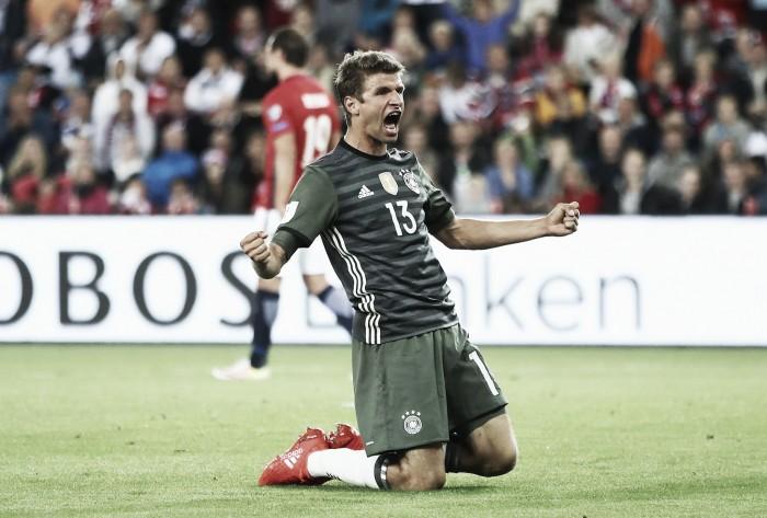 Müller marca dois e Alemanha vence Noruega sem dificuldades