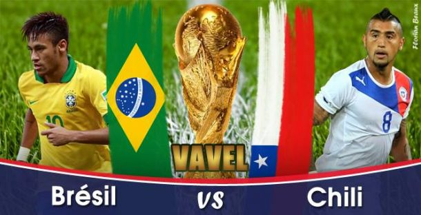 Live Coupe du monde 2014 : le match Brésil - Chili en direct