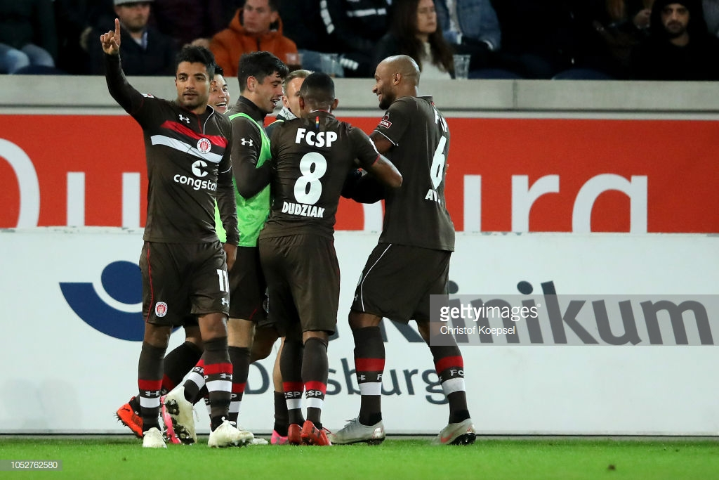 MSV Duisburg 0-1 FC St. Pauli: Sami Allagui moves Kiezkicker into top three