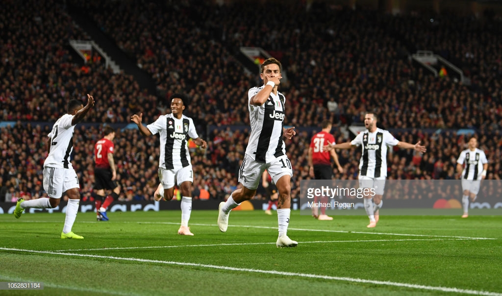 Manchester United 0-1 Juventus: Dybala's early strike condemns Reds to first defeat in group H