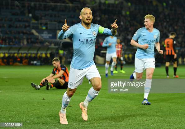 Shakhtar Donetsk 0-3 Manchester City: Both Silva's score as City win comfortably in Ukraine