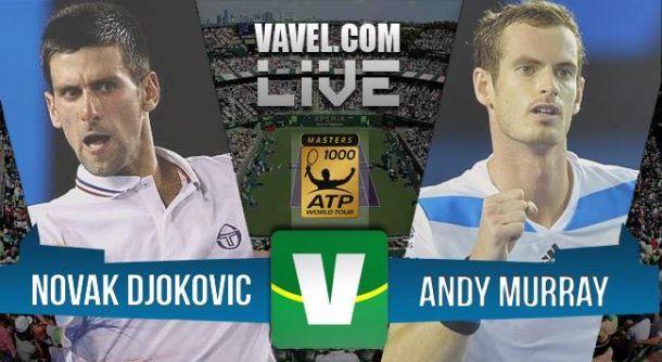 ResultadoNovak Djokovic x Andy Murray na final do Masters 1000 de Paris