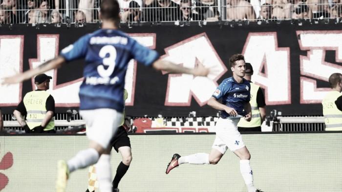 Sirigu marca no fim e Darmstadt derrota Frankfurt no Hesse-Derby