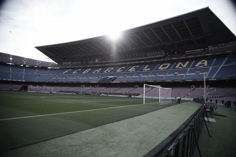 El Camp Nou a pie de césped. Foto: Noelia Déniz, VAVEL