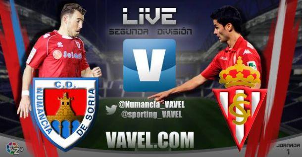 Numancia - Sporting de Gijón en directo online