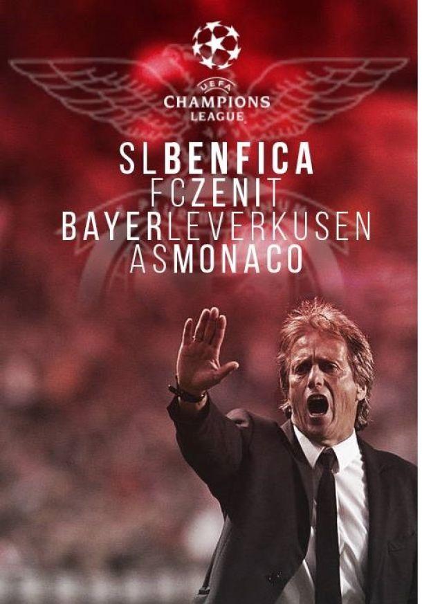 Grupo C de pouca sorte para o Benfica na Liga dos Campeões