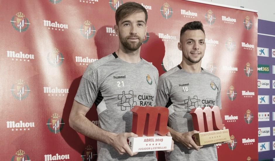 Míchel y Plano, premiados al mejor del Valladolid en abril y en todo el año respectivamente
