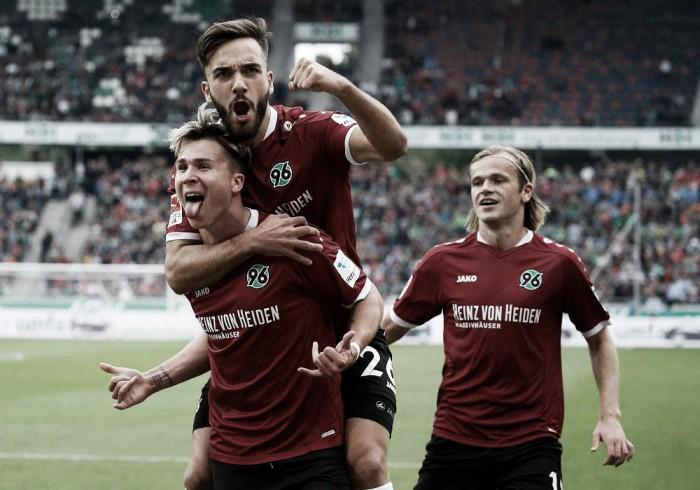 Hannover vence pelo placar mínimo e empurra Karlsruher para a zona de rebaixamento