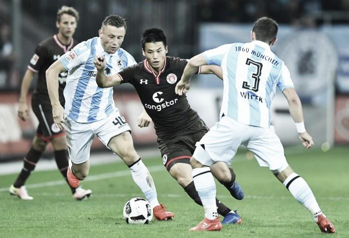 St. Pauli e 1860 Munique empatam em jogo de quatro gols na 2. Bundesliga