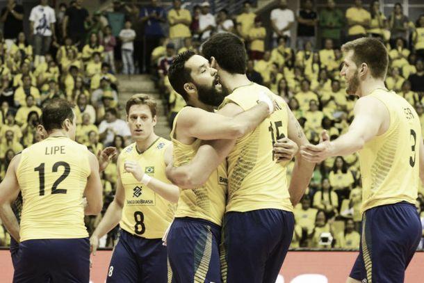 Com belas atuações de Evandro e Riad, Brasil vence Austrália pela Liga Mundial de Vôlei