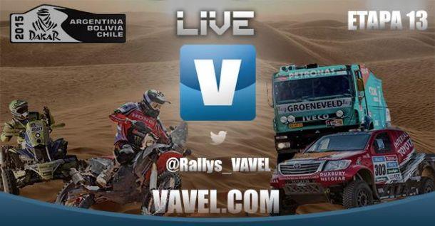Live Dakar 2015:13ª etapa en vivo