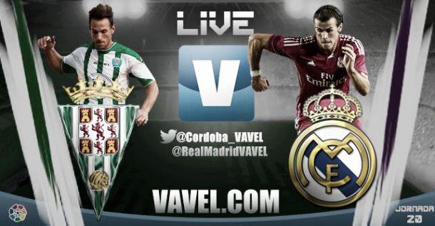 Resultado partido Córdoba - Real Madrid en la Liga BBVA 2015 (1-2)