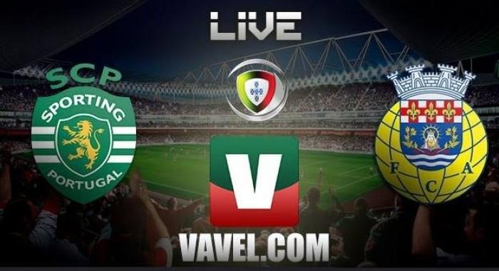 Resultado Sporting x Arouca na Liga NOS 2016 (5-1)