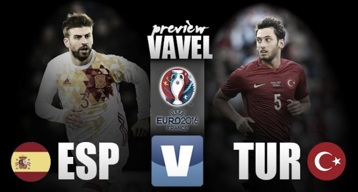 Euro 2016, a Nizza è già tempo di verdetti: la Spagna cerca la qualificazione, la Turchia il riscatto